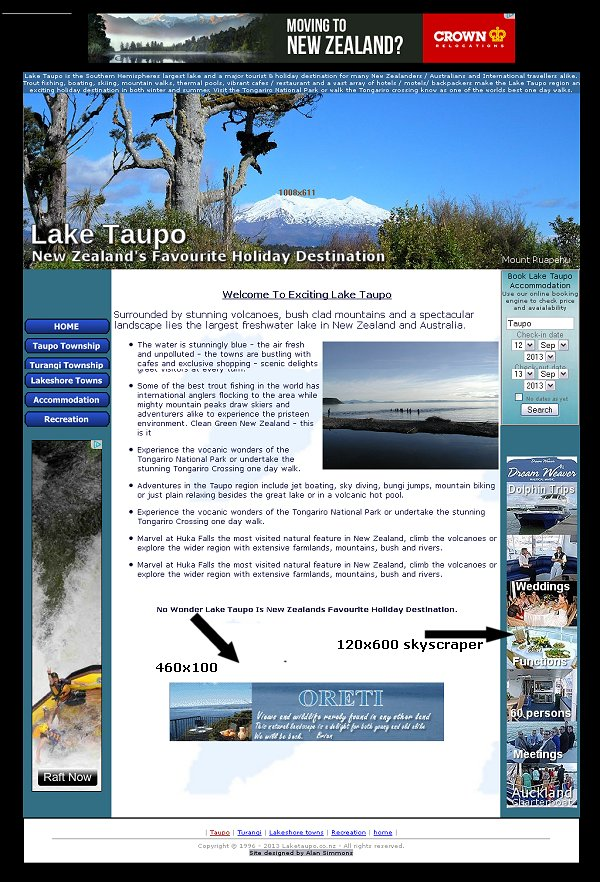 Advertsie with Lake Taupo
