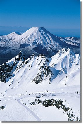 The spectacular skifields of the Central North Island